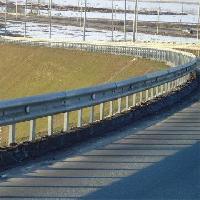w beam steel crash barrier
