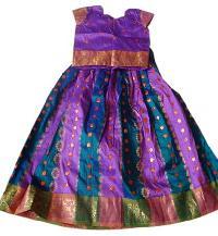 Girls Pattu Pavadai Skirt & Top