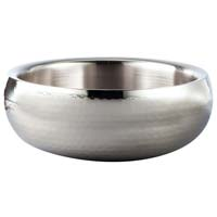 Stainless Steel Hammered Double Wall Serving Bowl