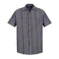 Striped Industrial Work Shirt