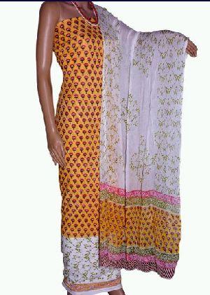 Sanganeri Print Cotton Salwar Suit Material