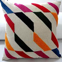Cotton Embroidery Cushion