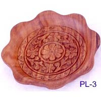 Wood Carved Serving Plate