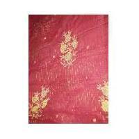Hand Embroidered Cotton Saree