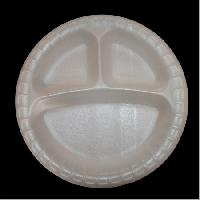 3 Compartment Round Plate