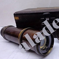 Brass Spyglass Telescope, Wooden Box