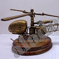 Vintage Brass Helicopter