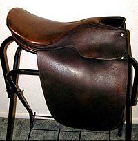 English Leather Horse Saddle