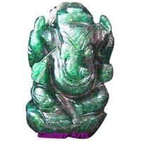 Gemstone Carved Ganesh Statue