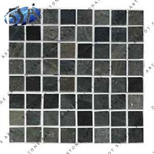 Smooth Slate Mosaic Tile