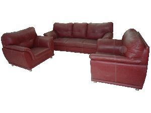Pure Leather Sofa Set.