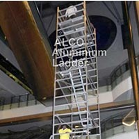 Aluminium Double Width Mobile Tower with Internal Ladder