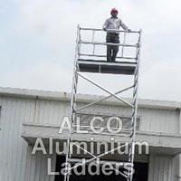 Aluminium Single Width Mobile Tower