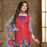 Cotton Printed Churidar Suit
