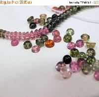Natural Tourmaline Gumdrops Beads