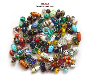Mixed Colors Glass Beads