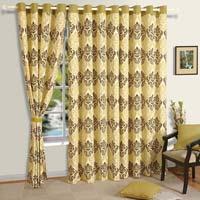 Dark Printed Room Curtain