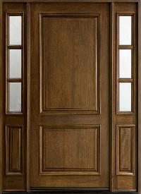 exterior solid wood door