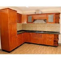 rubber wood modular kitchen