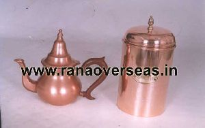Copper Tea Pot With Copper Pot