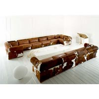 Finished Leather Sofa, Hair On Leather Sofa