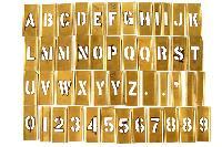 Brass Alphabet