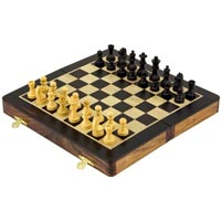 Folding Rosewood Chess Set