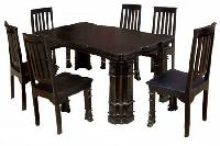 Painted Wooden Dining Table Set