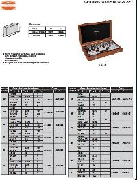 Insize Ceramic Gage Block Set