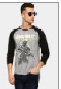 Free Authority Men Call Of Duty Grey T-shirt