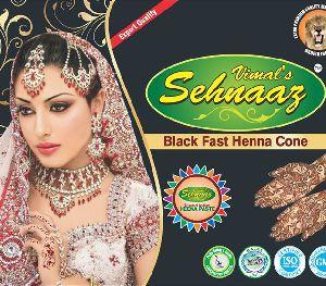 Black Fast Henna Cones