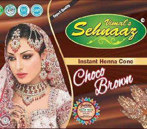 Instant Choco Brown Henna Cones