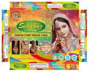 Instant Glitter Henna Cones