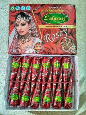 Instant Rosey Henna Cones