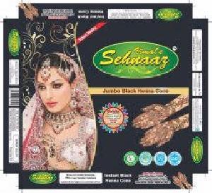 Jumbo Black Henna Cones