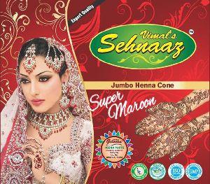 Jumbo Super Maroon Henna Cones