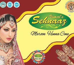 Maroon Henna Cones