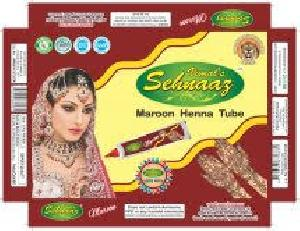 Maroon Henna Tubes