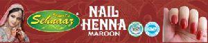 Maroon Nail Henna