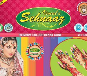 Rainbow Color Henna Cones
