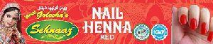 Red Nail Henna