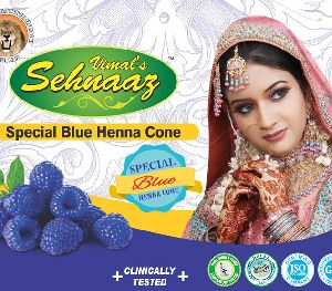 Special Blue Henna Cones