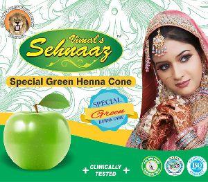 Special Green Henna Cones