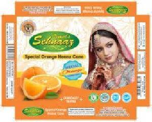 Special Orange Henna Cones