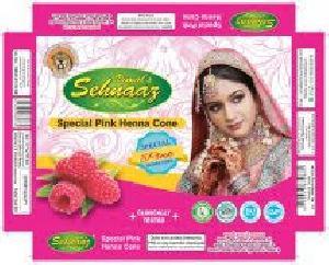 Special Pink Henna Cones
