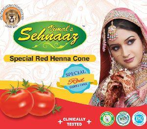 Special Red Henna Cones