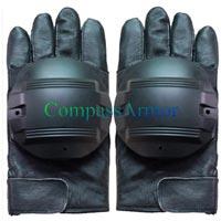 Leather Anti Riot Full Finger Gloves
