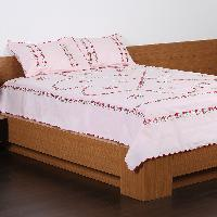 Hand Embroidery Bed Cover With Matching Pillow Cover