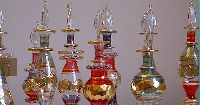 Mouth Blown Perfume Glass Bottles