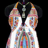 Dashiki Halter Dress